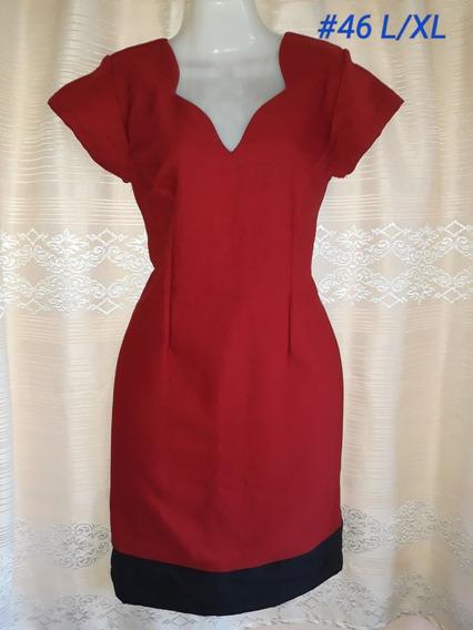 Vestido Rojo Estilo Pin Up (#46). Talla L/xl. Nuevo
