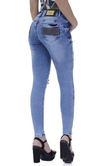Calça Jeans Feminina Zigma Skinny Eliane Azul