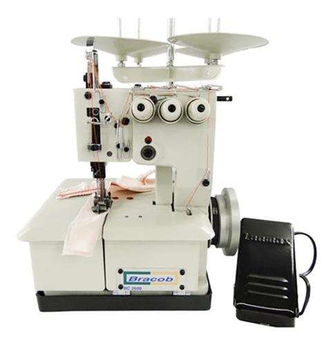 Máquina de costura industrial Bracob BC2600D3 branca 110V
