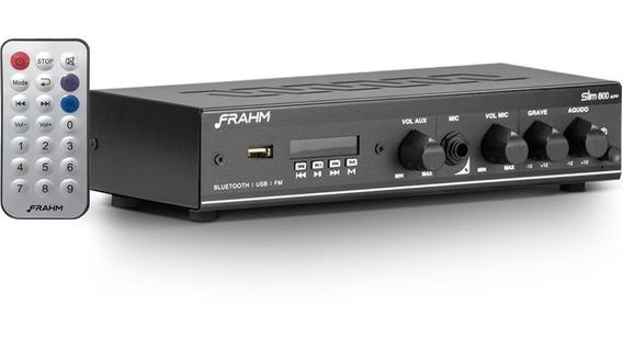 Amplificador Receiver Som Ambiente Frahm Slim 800 App 30w
