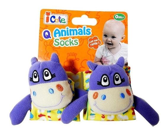 Q Baby Animals Sonajero Pulsera Hipopotamo Qt70015