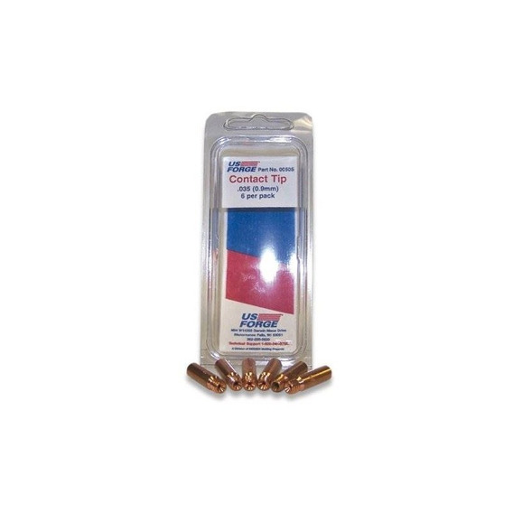 Us Forge Welding Mig Contact Tips .035 6-pack #00505