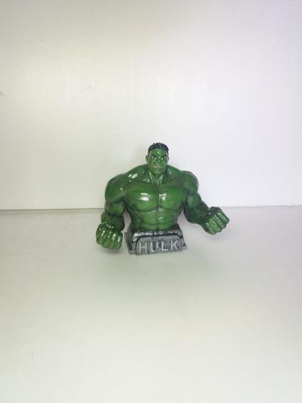 Busto De Hulk 3d 12cm De Alto Pintado A Mano P/colección