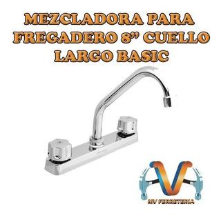 Mezcladora Para Fregadero Plastica 8 Cuello Largo Basic Abs
