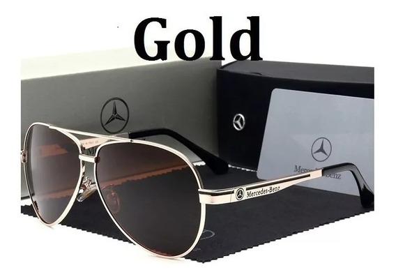 Óculos De Sol Mercedes Benz Polarizado Uv400 Lente Azul §