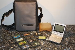 Bolso Gameboy Advance Y 6 Juegos Originales