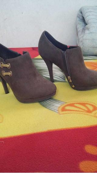 Zapato, Botineta De Gamuza