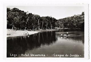 Cartao Postal Campos Do Jordão Lago Hotel Umuarama Anos 50