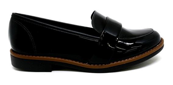 Sapato Slipper Salto Baixo Beira Rio Verniz Premium 4170.113