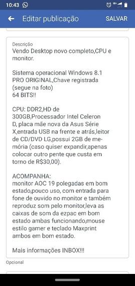 Vendo Pc Completo Estado De Novo!!!