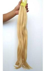 Cabelo Humano Loiro Claro P/ Mega Hair 70 A 75cm Com 100 Gr