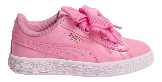 Zapatillas Puma Basket Heart Patent Ps Ros De Niñas