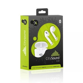 Fone Bluetooth Tws Dl Citysound Cs4 C/case P/recarga, Branco