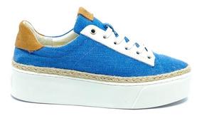 Tênis Fiever California Azul Jeans Plataforma - Loja Berti M