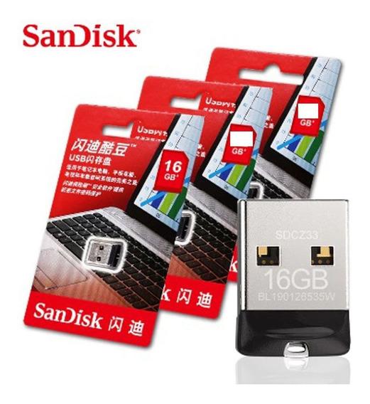 Pen Drive 16gb Sandisk Ultra Nano Micro Cruzer Fit Frete Grátis