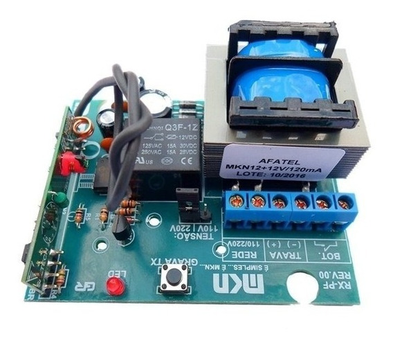 Acionador De Fechadura Elétrica 12v Com Receptor 433 Mhz Mk
