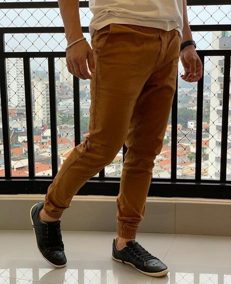 Calça Sarja Jogger Masculina Slim Com Elástico Premium