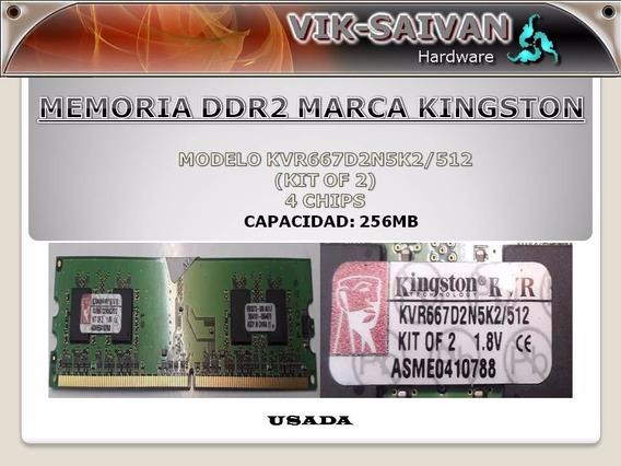 Memoria Ddr2 Kingston De 256mb Pc2-5300 667mhz 4 Chips 4