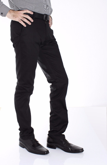 Pantalon Algodón Satinado Con Spandex Entallado