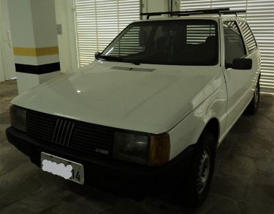 Fiat Uno Mille 1991 Branco Pintura Nova. Ótimo Estado.