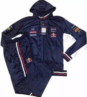 Conjunto Agasalho Red Bull Calça E Blusa De Frio