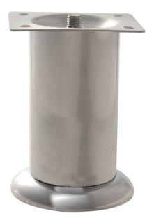 Pata Para Mueble Metálica De 10cm Cromada Con Hule 3370