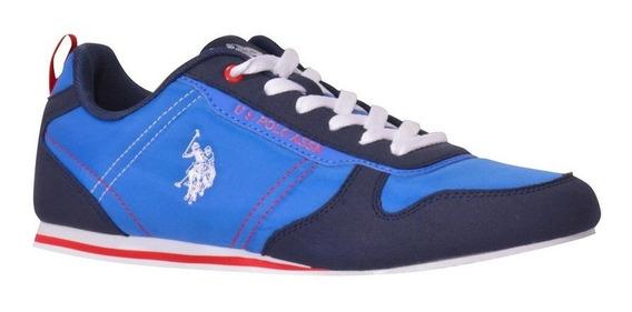 Tenis Us Polo Duke Azul Marino Y Azul Rey Caballero