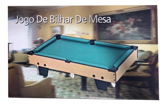 Mini Bilhar Grande Sinuca Snooker Infantil Maior Mesa 64cm