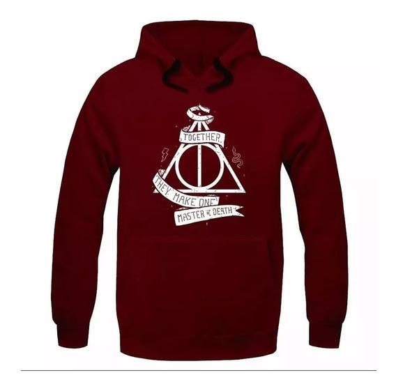 Moletom Agasalho Casaco Harry Potter Reliqueas Blusa De Frio