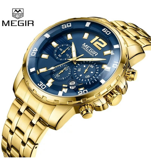 Megir Relógio Masculino Marca De Luxo