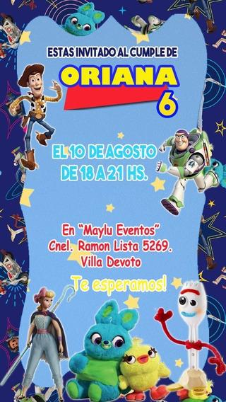 Toy Story 30 Invitaciones Tarjetas Impresas