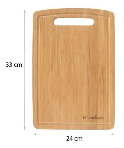 Imagem 1 de 3 de Tábua De Corte Bambu 33cm X 24cm Legumes Carnes Mundiart