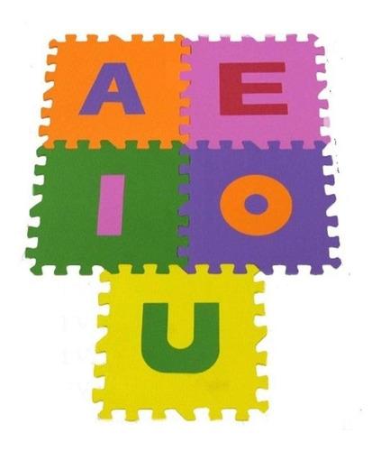 Imagem 1 de 2 de Tapete De Alfabetos Vogais Infantil 5 Peças Colorido 30x30