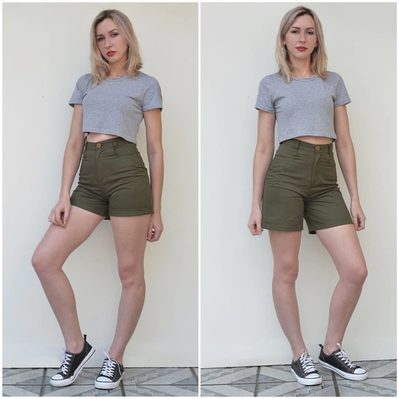 Shorts Mom Brim Qualidade Marykrone