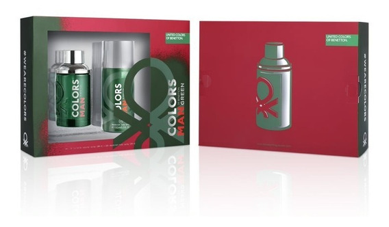 Kit Masculino Benetton Colors Man Green Exclusive
