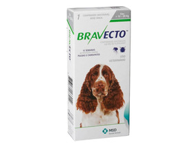 Antipulgas Bravecto Para Cães De 10 A 20kg - 08/2019
