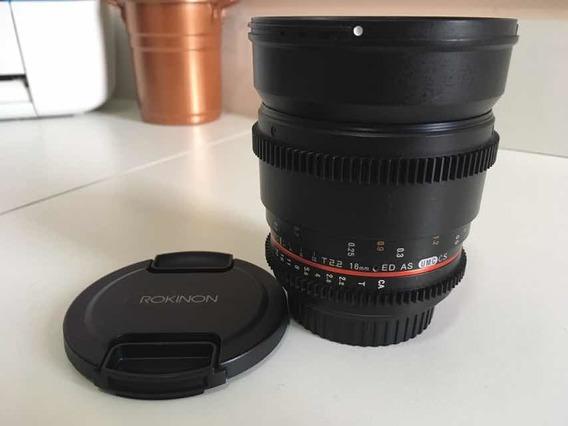 Lente Rokinon Cine 16mm T2.2 - Canon