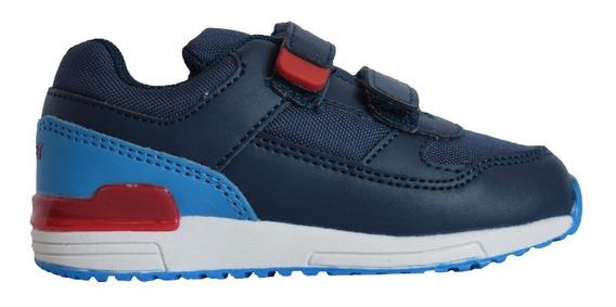 Zapatillas Topper Lele Nene Azul Con Rojo