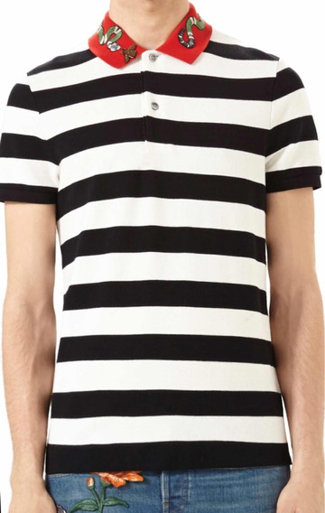 Camisa Tipo Polo Marca Gucci