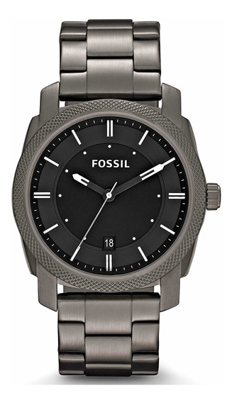 Reloj Fossil Machine Para Hombres De 42mm, Pulsera De Acero