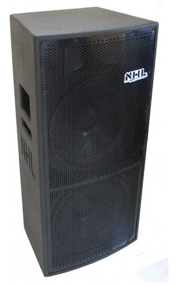 Caixa Ativa Amplificada 2x15 Nhl 1400w Nhl Pro Sound