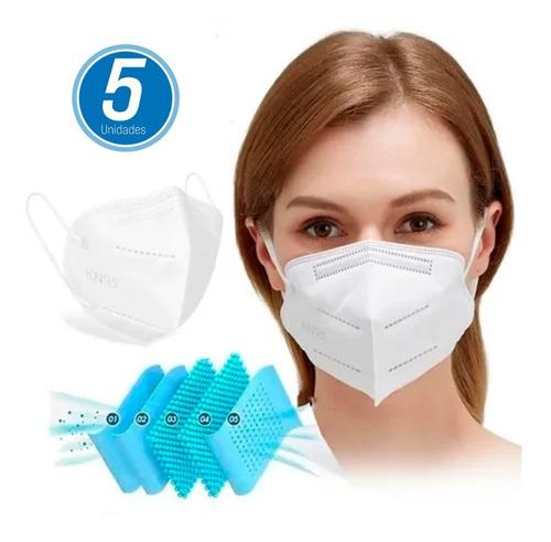 Kit 5 Máscara Respiratória Proteção Pff2 Kn95 Fda Anvisa