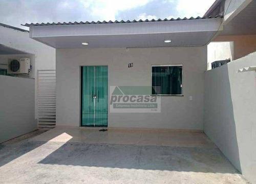 Imagem 1 de 9 de Casa Com 2 Dormitórios À Venda, 81 M² Por R$ 130.000,00 - Santa Etelvina - Manaus/am - Ca4132