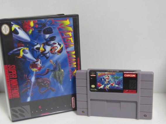 149 - Megaman X Dust Cover Original Snes Cartucho Fita