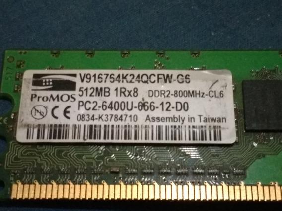 Memoria Ram Ddr2-800 512mb Pc2-6400 1.8v Cl6 Pc