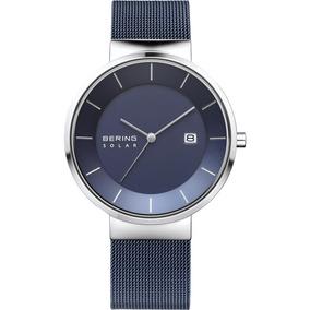 Reloj Solar Azul Bering