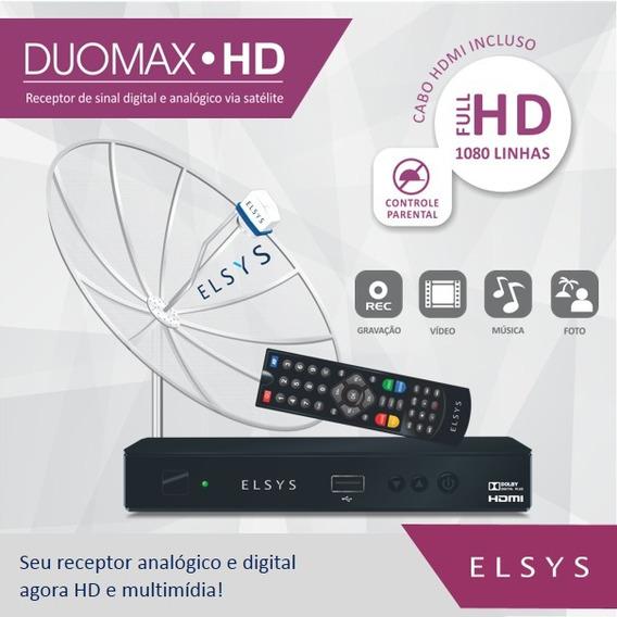 Receptor Parabólica Digital Analógico Elsys Duomax Hd (usado