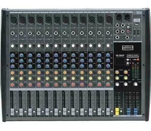 Mesa De Som 12 Ch Usb /1 Auxiliar Cmx 12 Usb Mark Audio 12x