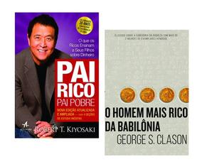 Kit Livros Pai Rico Pai Pobre+o Homem Mais Rico Da Babilôna