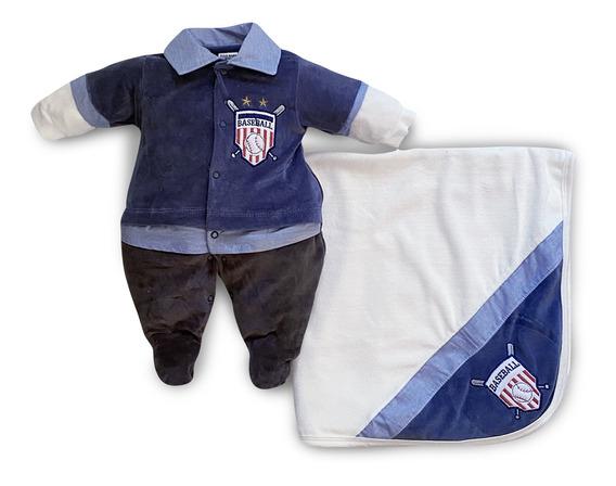 Saída Maternidade Menino Baseball Jeans Maxi Baby